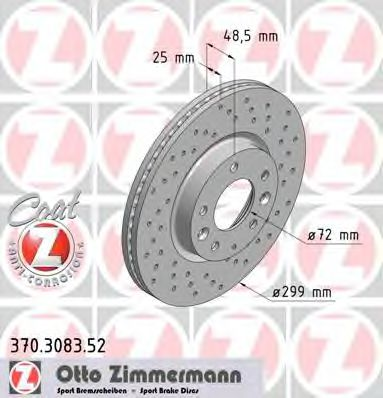 Диск гальмівний ZIMMERMANN 370308352