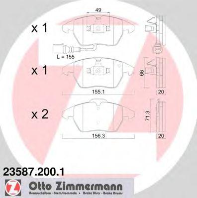 Колодки гальмівні дискові ZIMMERMANN 235872001