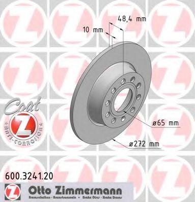 Тормозной диск ZIMMERMANN арт.