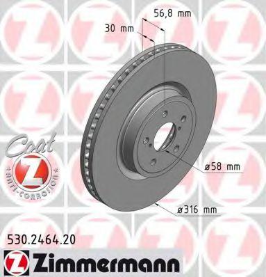 Диск гальмівний ZIMMERMANN 530246420