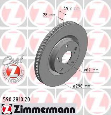 Диск гальмівний ZIMMERMANN 590281020