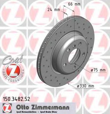 Диск гальмівний ZIMMERMANN 150348252