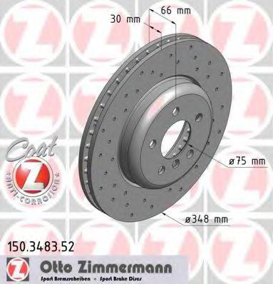 Диск гальмівний ZIMMERMANN 150348352