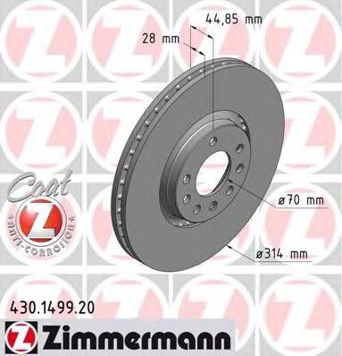 Диск гальмівний ZIMMERMANN 430149920