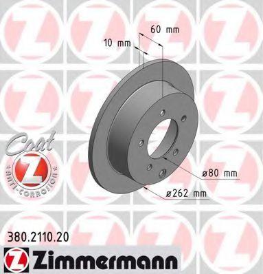 Диск гальмівний ZIMMERMANN 380211020