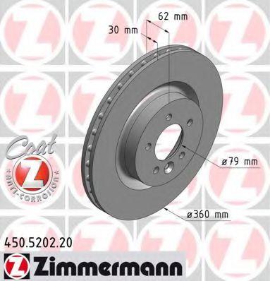Диск гальмівний ZIMMERMANN 450520220