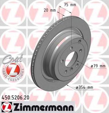 Диск гальмівний ZIMMERMANN 450520620