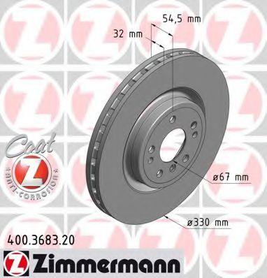 Диск гальмівний ZIMMERMANN 400368320