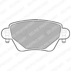Комплект тормозных колодок, дисковый тормоз DELPHI арт. LP1682