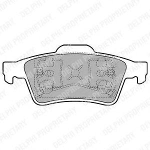 Комплект тормозных колодок, дисковый тормоз DELPHI арт.