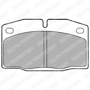 Комплект тормозных колодок, дисковый тормоз DELPHI арт. LP415