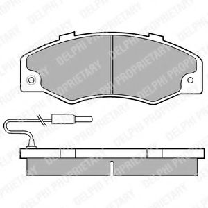Комплект тормозных колодок, дисковый тормоз DELPHI арт. LP489