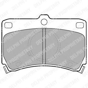 Комплект тормозных колодок, дисковый тормоз DELPHI арт. LP531