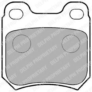 Комплект тормозных колодок, дисковый тормоз DELPHI арт. LP590