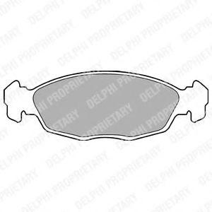 Комплект тормозных колодок, дисковый тормоз DELPHI арт. LP702