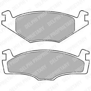Комплект тормозных колодок, дисковый тормоз DELPHI арт. LP756