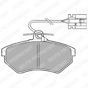 Комплект тормозных колодок, дисковый тормоз DELPHI арт. LP769