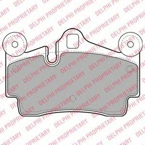 Комплект тормозных колодок, дисковый тормоз DELPHI арт. LP1998