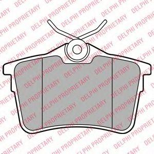 Комплект тормозных колодок, дисковый тормоз DELPHI арт. LP2147
