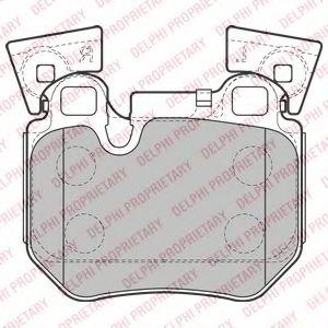 Комплект тормозных колодок, дисковый тормоз DELPHI арт. LP2121