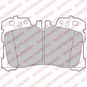 Комплект тормозных колодок, дисковый тормоз DELPHI арт. LP2213