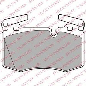 Комплект тормозных колодок, дисковый тормоз DELPHI арт. LP2235