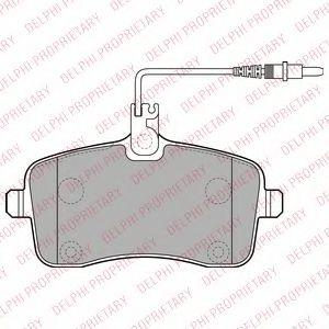 Комплект тормозных колодок, дисковый тормоз DELPHI арт. LP2282