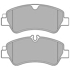 Комплект тормозных колодок, дисковый тормоз DELPHI арт. LP2662