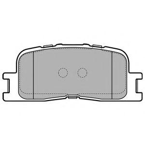 Комплект тормозных колодок, дисковый тормоз DELPHI арт. LP2703
