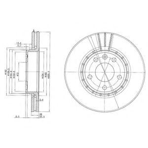 Тормозной диск DELPHI арт.