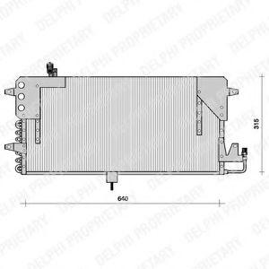 Конденсер кондиціонера DELPHI TSP0225073
