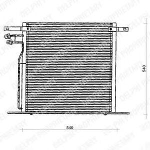 Конденсатор, кондиционер DELPHI арт. TSP0225126