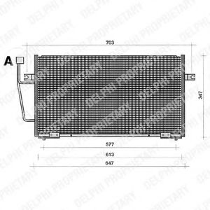 Конденсатор, кондиционер DELPHI арт. TSP0225204