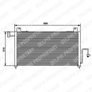 Конденсер кондиціонера DELPHI TSP0225428