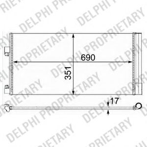 Конденсер кондиціонера DELPHI TSP0225638