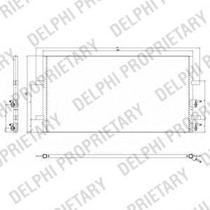 Конденсер кондиціонера DELPHI TSP0225640