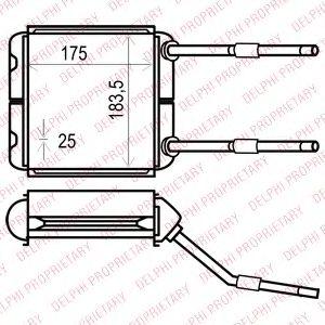 Радіатор пічки DELPHI TSP0525535