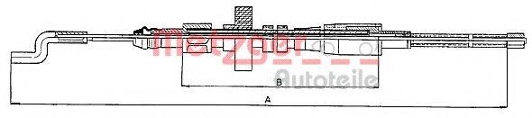Трос, стояночная тормозная система METZGER арт. 107391