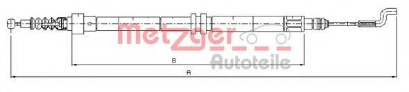 Трос, стояночная тормозная система METZGER арт. 107392