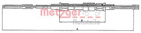 Трос, стояночная тормозная система METZGER арт. 107402