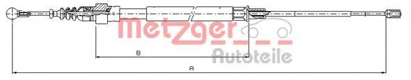 Трос, стояночная тормозная система METZGER арт. 107509