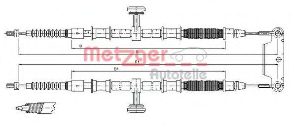 Трос, стояночная тормозная система METZGER арт. 115944