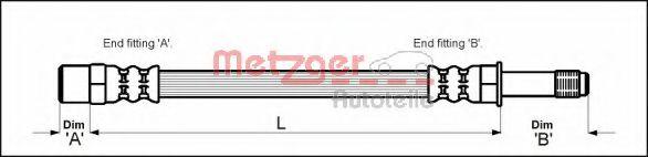 Тормозной шланг METZGER арт.