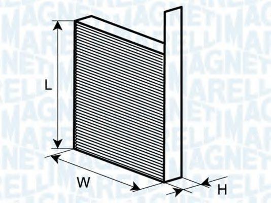 Фильтр, воздух во внутренном пространстве MAGNETI MARELLI арт.