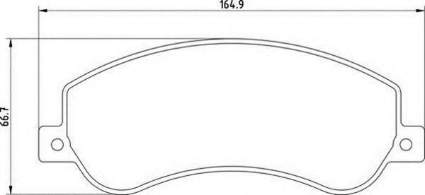 Комплект тормозных колодок, дисковый тормоз MAGNETI MARELLI арт.