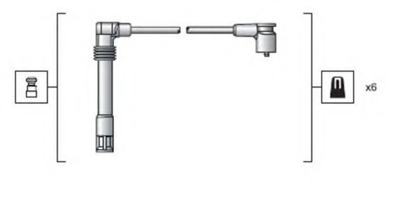 Комплект проводов зажигания MAGNETI MARELLI арт.