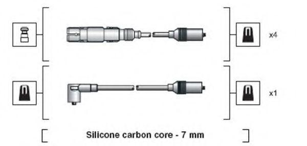 Комплект проводов зажигания MAGNETI MARELLI арт. 941318111270