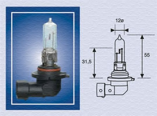 Лампа накаливания, фара дальнего света MAGNETI MARELLI арт. 002577200000