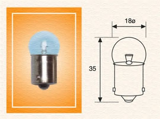 Лампа накаливания, фонарь освещения номерного знака MAGNETI MARELLI арт.