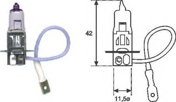 Лампа накаливания, противотуманная фара MAGNETI MARELLI арт.